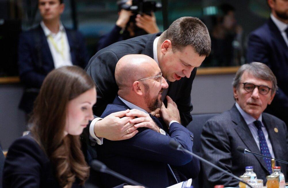 Jüri Ratas ja Charles Michel Ülemkogul plaani pidamas