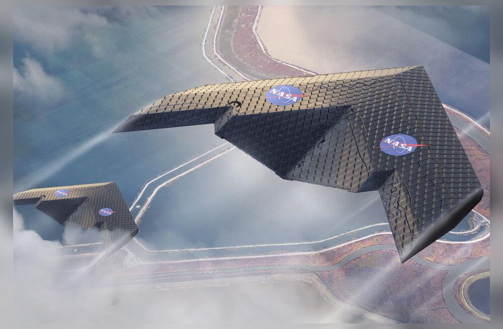 FOTOD | NASA ja MIT teadlased tutvustasid lennunduses revolutsiooni tõotavat uudset lennukitiiba