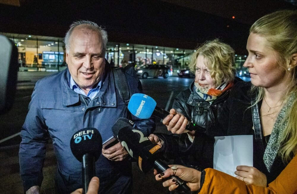 Mart Järviku saabumine Tallinna lennujaama.
