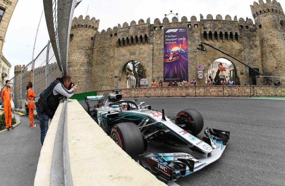 Võidumees Lewis Hamilton.