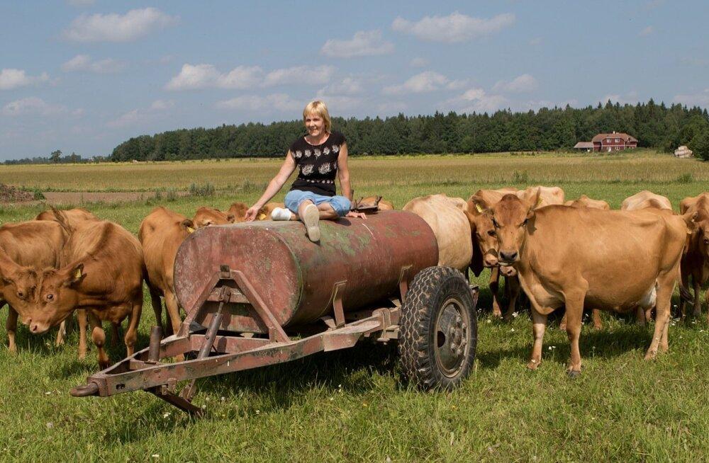 Reet Loorits, Pahkla Camphilli küla Farmi OÜ loomakasvatusjuht, 2016. aasta parim maakarjakasvataja. Tema juhendamisel saavad küla elanikud loomade eest hoolitseda.