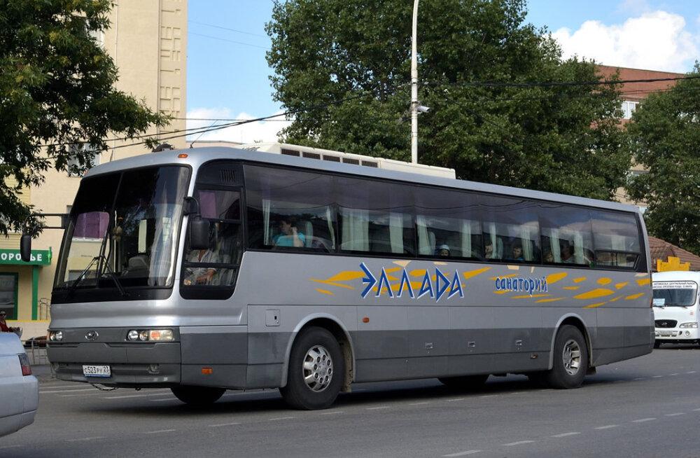 "Автобус Hyunday санатория ""Эллада"""