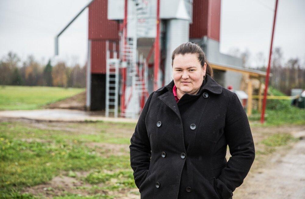 Katrin Tootsman kasvatab Paunvere Agros igal aastal häid saake.