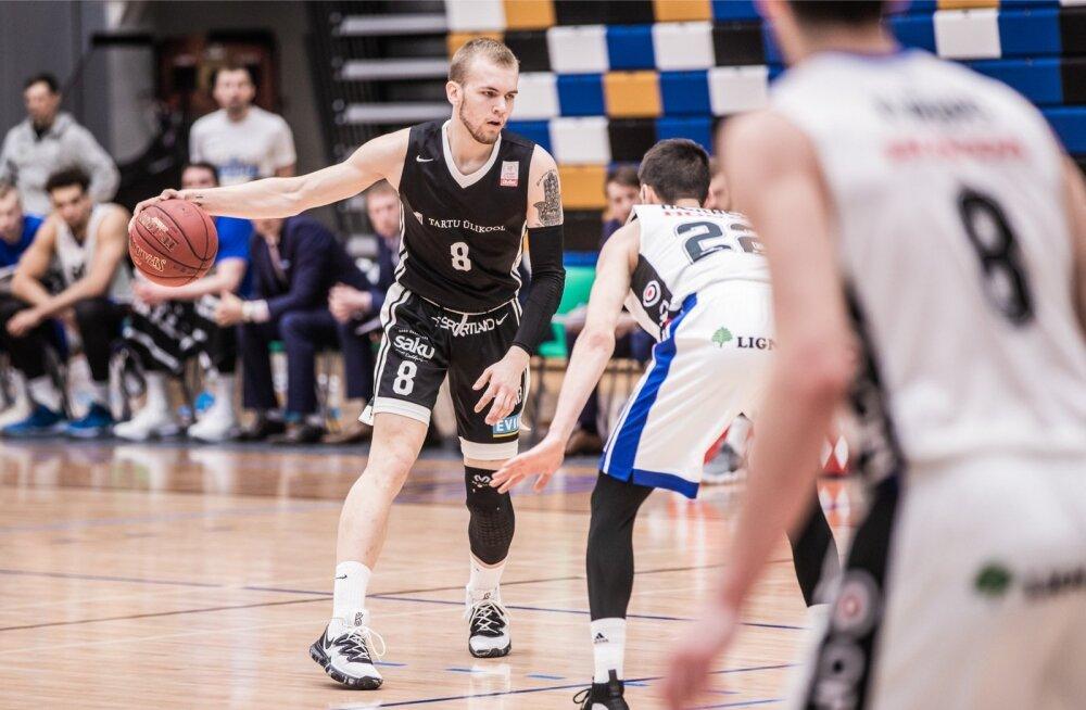 Korvpalli Eesti-Läti Ühisliiga play-off mäng. Tartu Ülikool vs Kalev/Cramo
