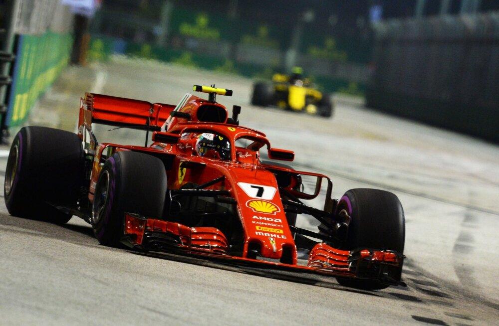 VIDEO   Sündmusterohke 2. vabatreening Singapuris: Vettel lõhkus auto, Räikkönen sai 1000 eurot trahvi