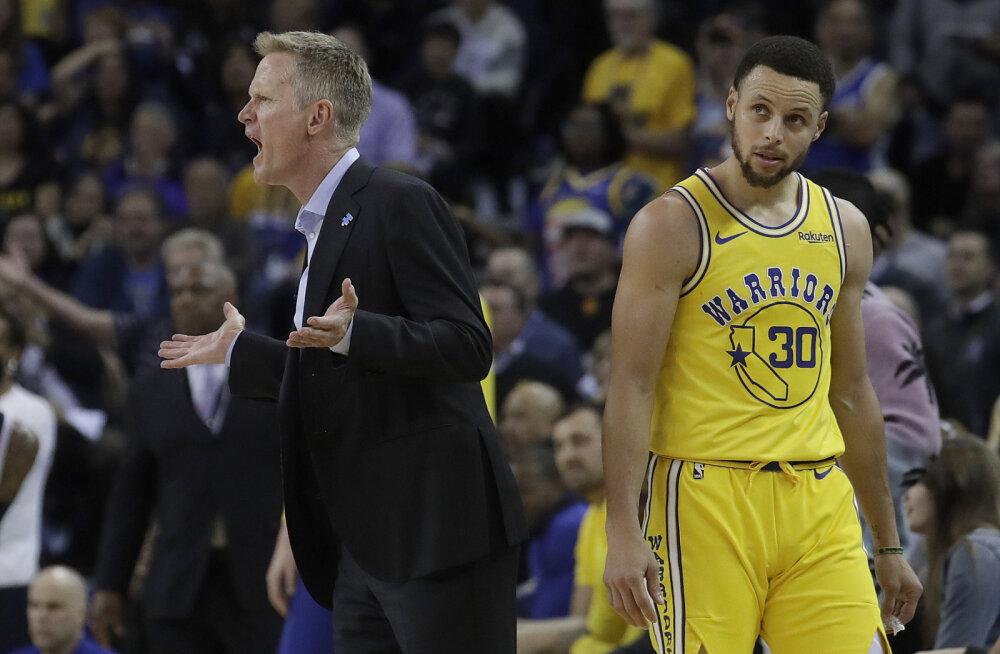 Golden State Warriorsi tähtmängijad peavad kohtunike kritiseerimise eest trahvi maksma