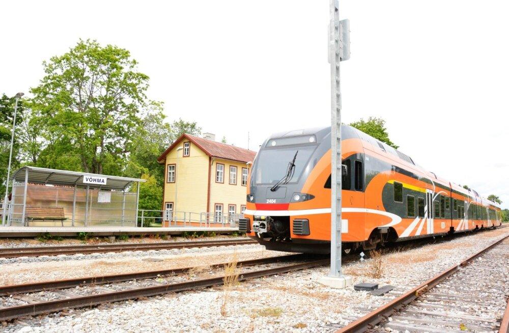 Elron tasuta ühistranspordi mõjust: Lõuna-Eestis on mitmes peatuses rongisõitjaid kolmandiku võrra vähem