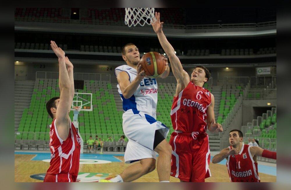 U20 korvpallikoondis alistus kohamängudes Gruusiale
