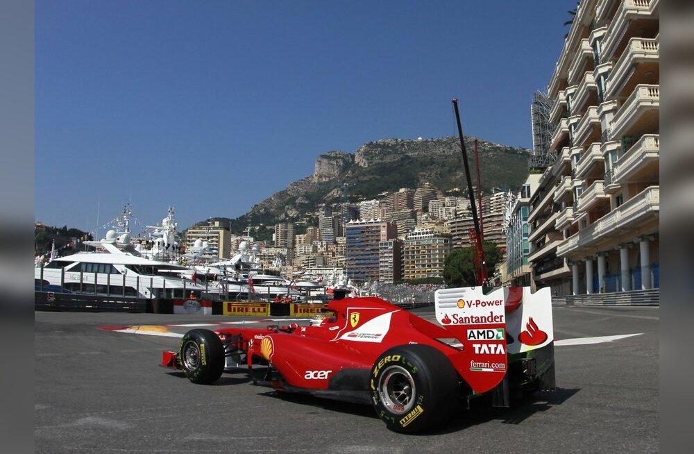 Monaco vormel-1 etapil näitas parimat aega Fernando Alonso