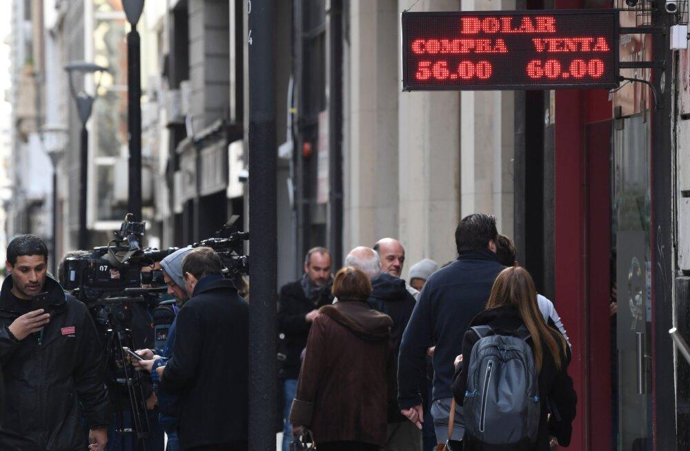Argentina üllatuslik valimistulemus räsis karmilt peesot ja aktsiaturgu