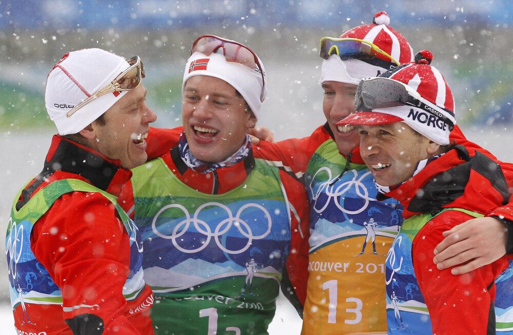 Halvard Hanevold (vasakul) 2010. aasta olümpial