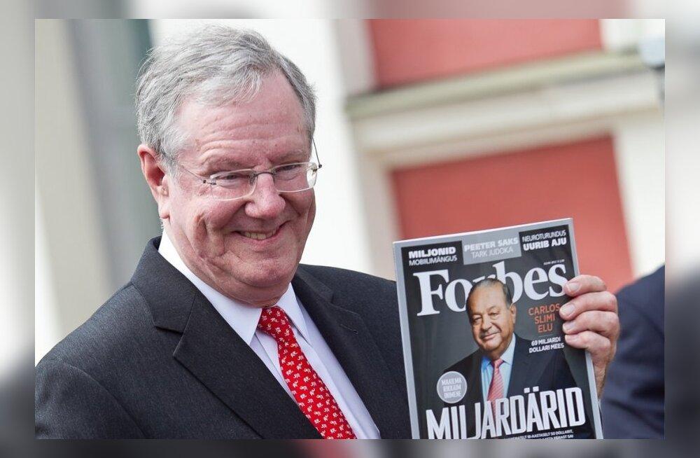 Steve Forbes ajakirja Eesti tutvustusel