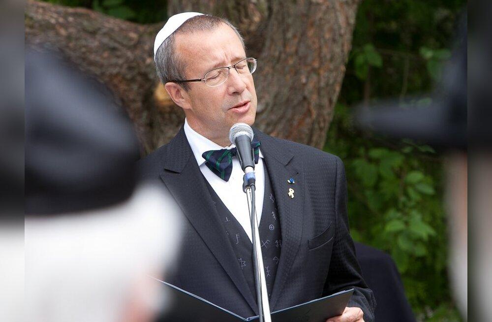 FOTOD: President Ilves avas küüditatud Eesti juutide mälestussamba