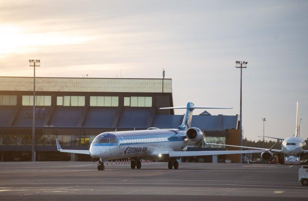 Estonian Airi lennuk Tallinna lennujaamas