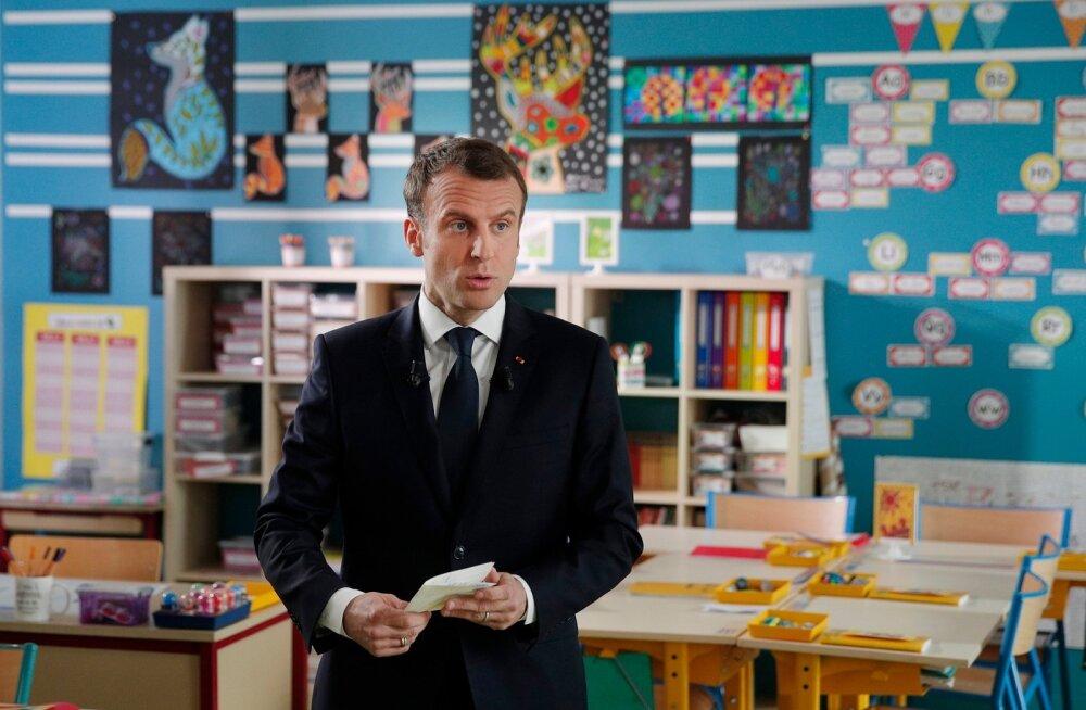 Macron: Prantsusmaal on tõendid, et keemiarünnaku pani toime Süüria valitsus, aga rünnak pole otsustatud
