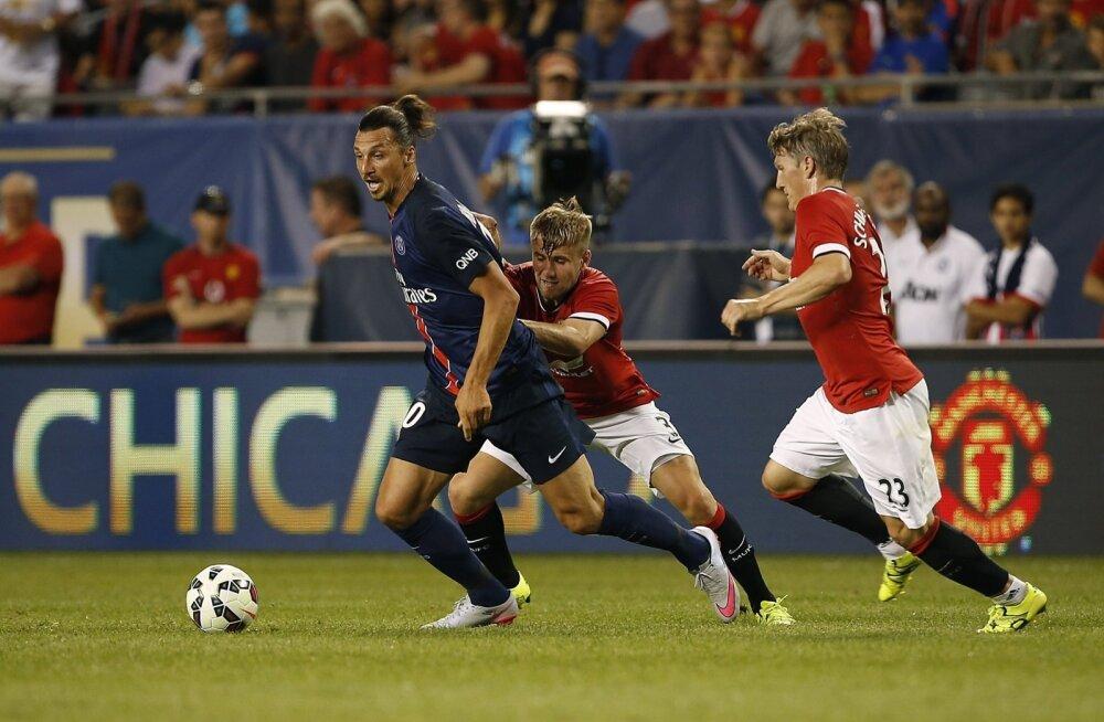 Zlatan Ibrahimovic lõi ManU-le värava
