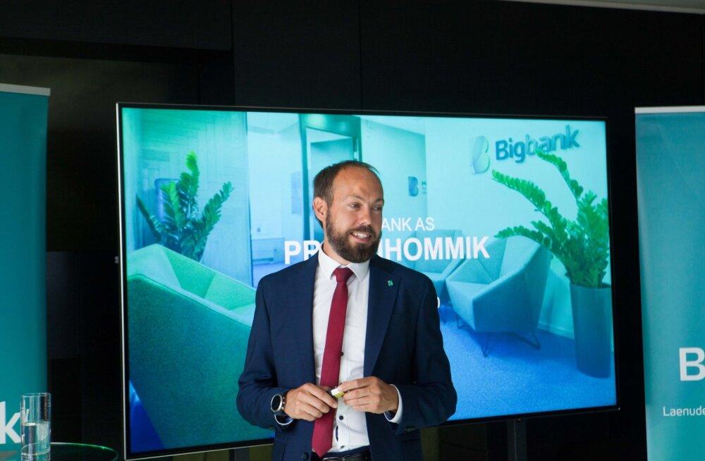Bigbanki juht Martin Länts näeb uuel laenul suurt tulevikku.