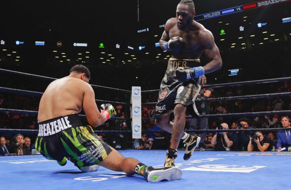 VIDEO | Deontay Wilder virutas WBC tiitlimatšis vastase juba avaraundis nokauti