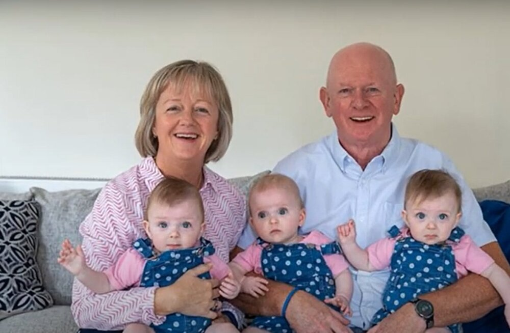 Сестры-тройняшки появились на свет благодаря дедушке и бабушке