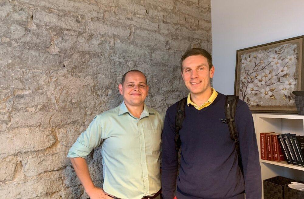 Martin Villig (paremalt) ja Indrek Põldvee.
