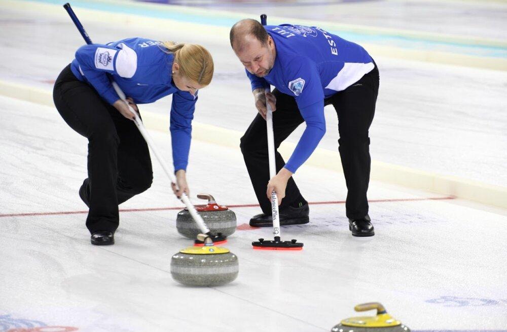 Eesti curlingu segapaar Maile Mölder ja Erkki Lill