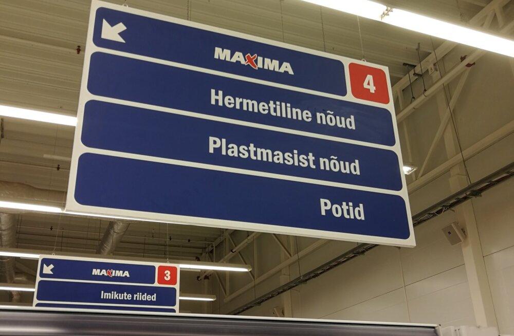 FOTO | Kummalised keeleapsud osutasid taaskord Maxima töötajate ebapiisavale eesti keele oskusele
