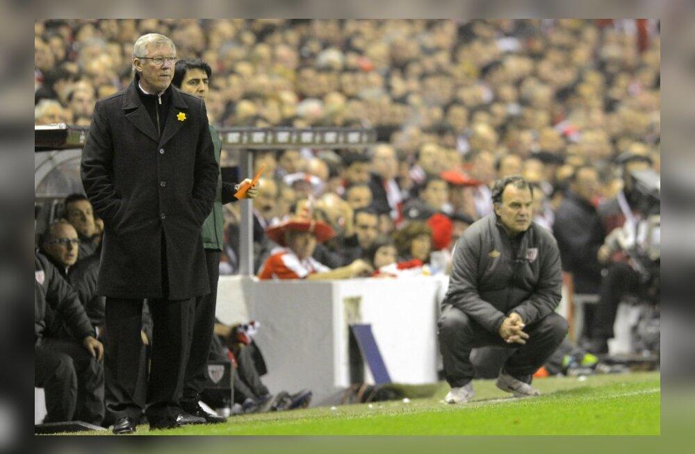 Sir Alex Ferguson ja Bilbao treener Marcelo Bielsa