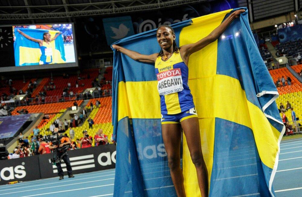 Abeba Aregawi tõi 2013. aasta MM-ilt Rootsile kuldmedali 1500 m jooksus.