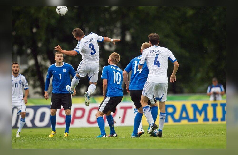 Eesti vs Kreeka U19 jalgpall