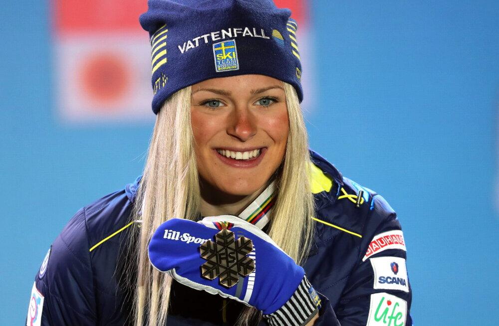 Noort suusatähte tabas järjekordne tagasilöök, rootslanna jääb hooaja tähtsaimalt võistluselt eemale