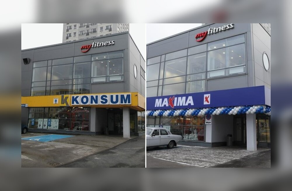 ФОТО: Почему ласнамяэский магазин Konsum внезапно превратился в Maxima?