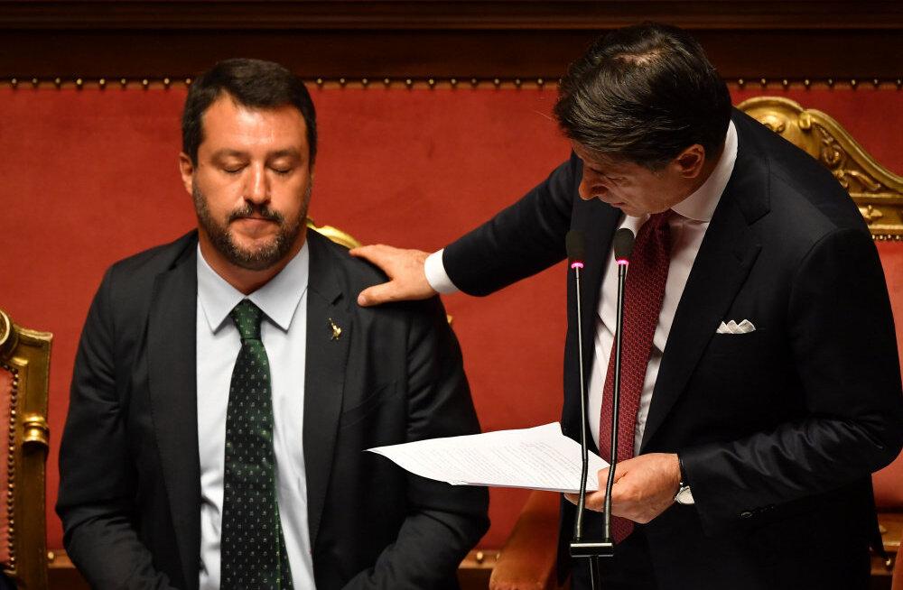 Itaalia peaminister astus sõimukõne saatel tagasi