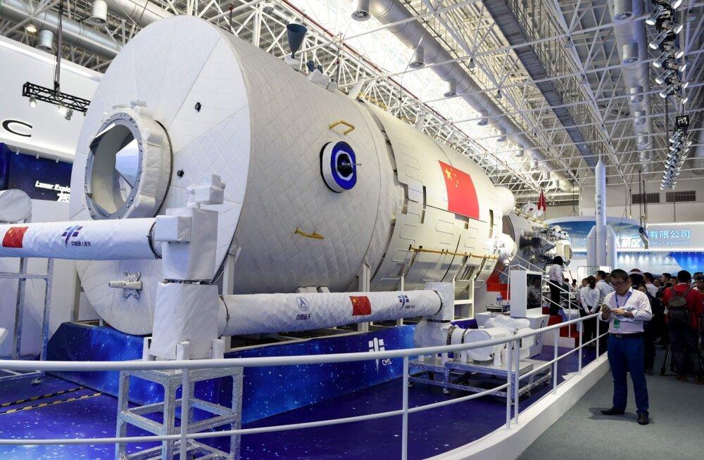 Hiina näitas oma uue kosmosejaama tuumiku koopiat
