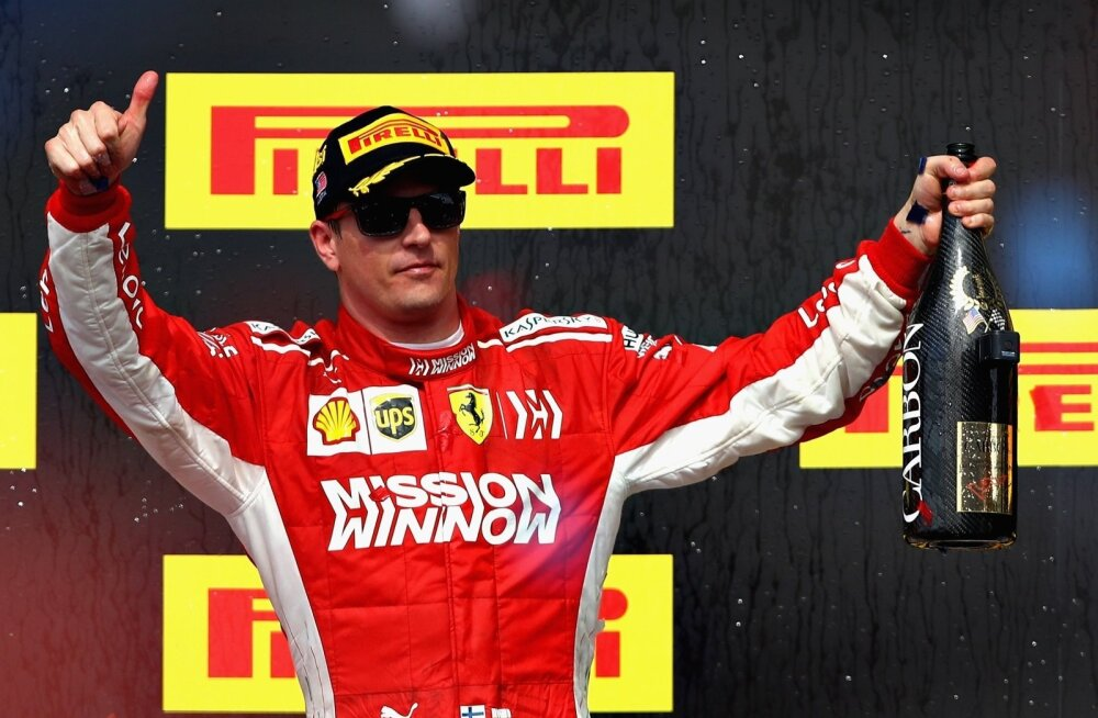 Kimi Räikkönen on mitmepalgeline mees, kui temalt eemaldada kate.