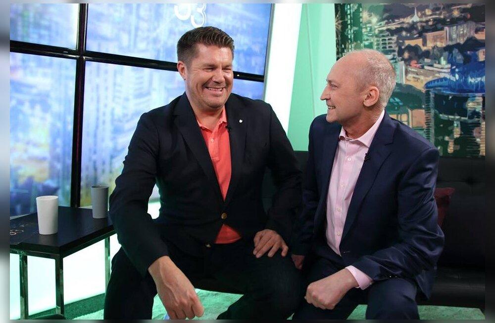 Milline irooniline hoolivus! Hannes Võrno soovitas pärast intervjuud Vahur Kersnaga otse-eetris oma nõrganärvilistel televaatajatel rohud ära võtta