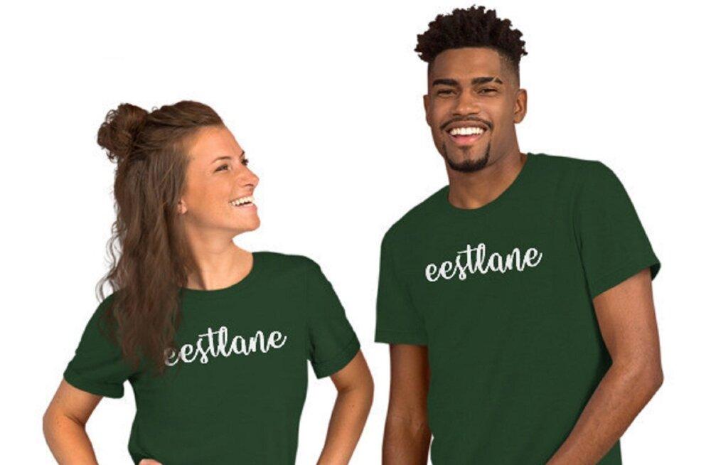"""ФОТО: Вот это да! Латвийская фирма изготавливает футболки и носки с надписью """"эстонец"""""""