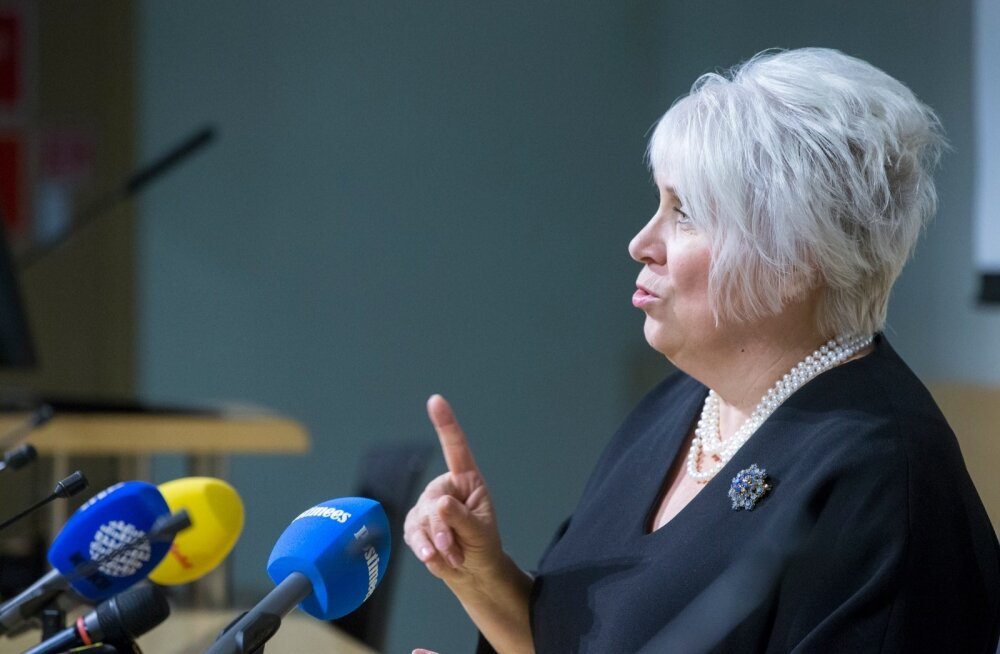 Marina Kaljurand. Pressikonverents välisministeeriumis