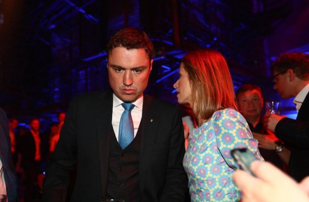 FOTOD | Valimistel supertulemuse teinud Marina Kaljurand juubeldas, europarlamendist välja jäänud Taavi Rõivase näoilmed aga räägivad enda eest