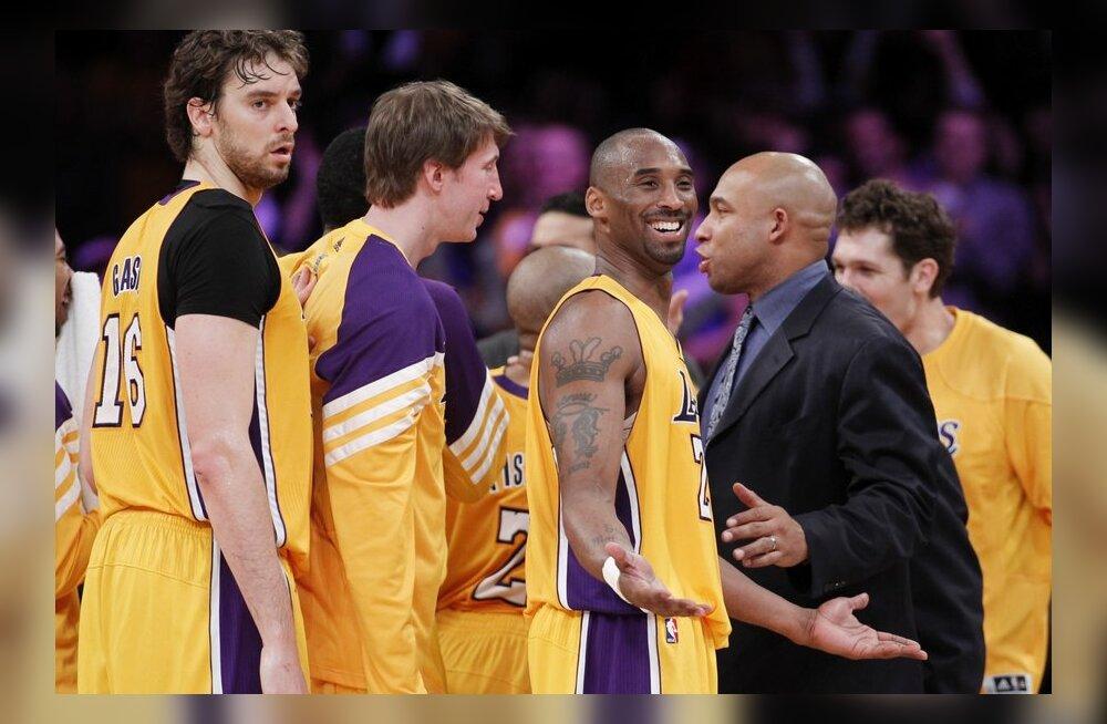 Kobe Bryant kaitsmas Lakersi au ja uhkust, NBA, korvpall