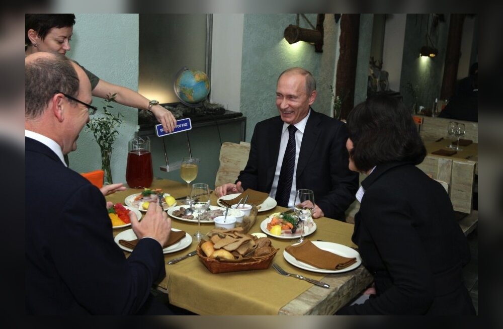 Vladimir Putin and Prince Albert