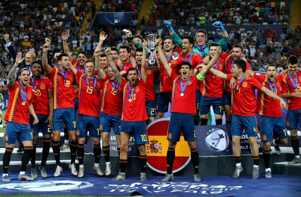 Hispaania U21 jalgpallurid võtsid EM-i finaalis sakslastelt magusa revanši