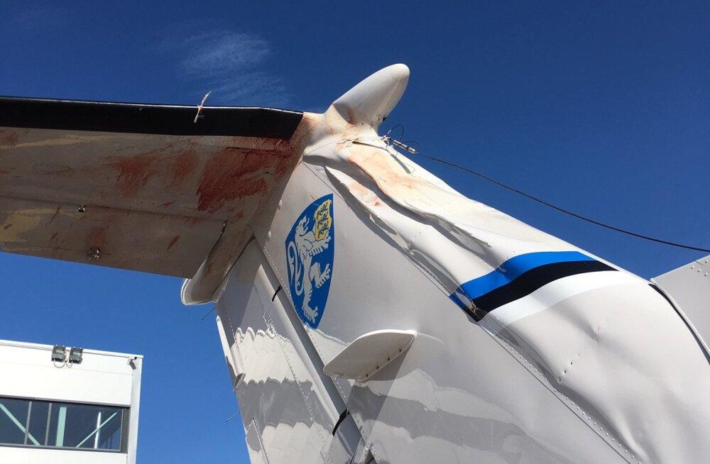FOTO | Õnnelik õnnetus: PPA lennusalga seirelennuk põrkas kokku linnuga