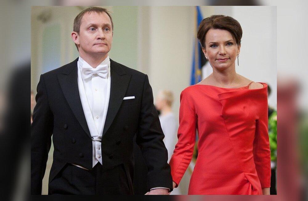 FOTOD: Presidendi vastuvõtul võidutseb punane värv
