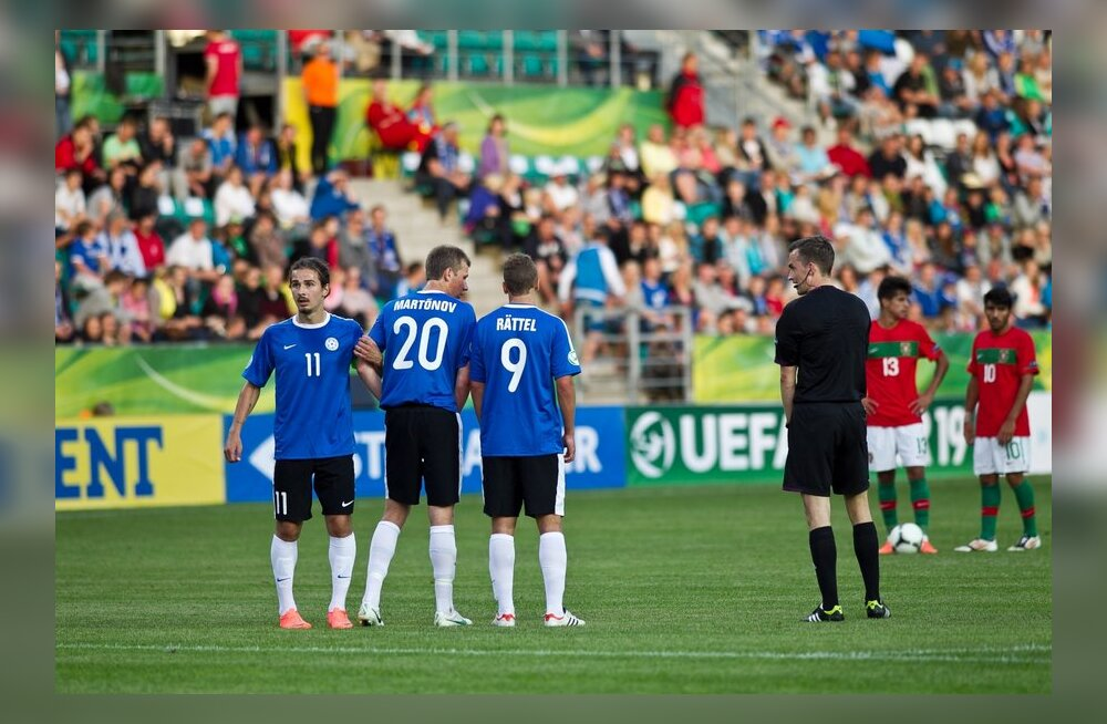 Artur Rättel, Nikita Martõnov ja Karl-Eerik Luigend, Eesti U-19 jalgpallikoondis