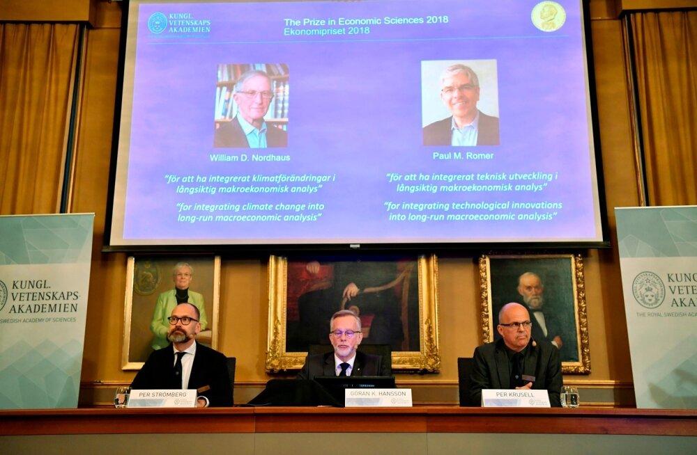 Nobeli majanduspreemia väljakuulutamine.