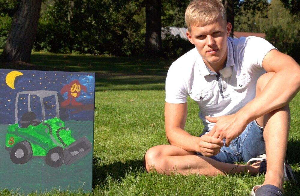 VIDEO | Ott Tänak pani oma maali oksjonile: on väga oluline, et haiglas olevad lapsed saaksid vähemalt korragi veeta oma unistuste päeva