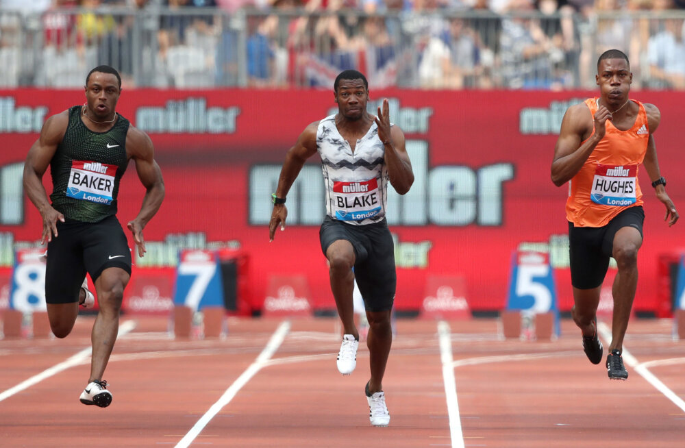 Teemantliiga etapil alistasid kuus meest 100 meetri jooksus kümne sekundi piiri