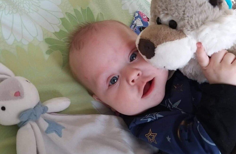 Viiekuune Johann-Roger ei saa elada kodus pere keskel, sest vanematel pole võimalik teda haiglast koju viia