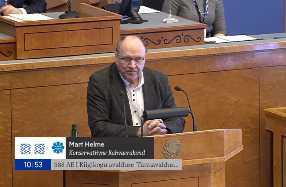 Riigikogu avaldas tänu Eesti Vabariigi loojatele, kaitsjatele, hoidjatele ja taastajatele
