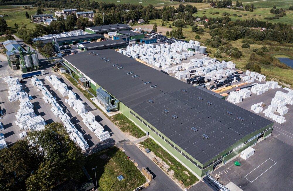 Pildil on sektori ühe tugevama tegija Palmako suur tootmiskompleks.
